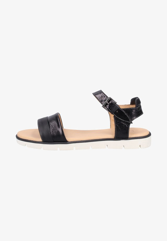 Sandals - Glossy Black