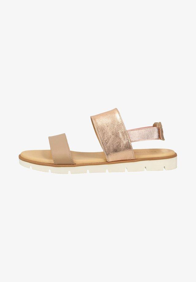 Sandały - peach gold