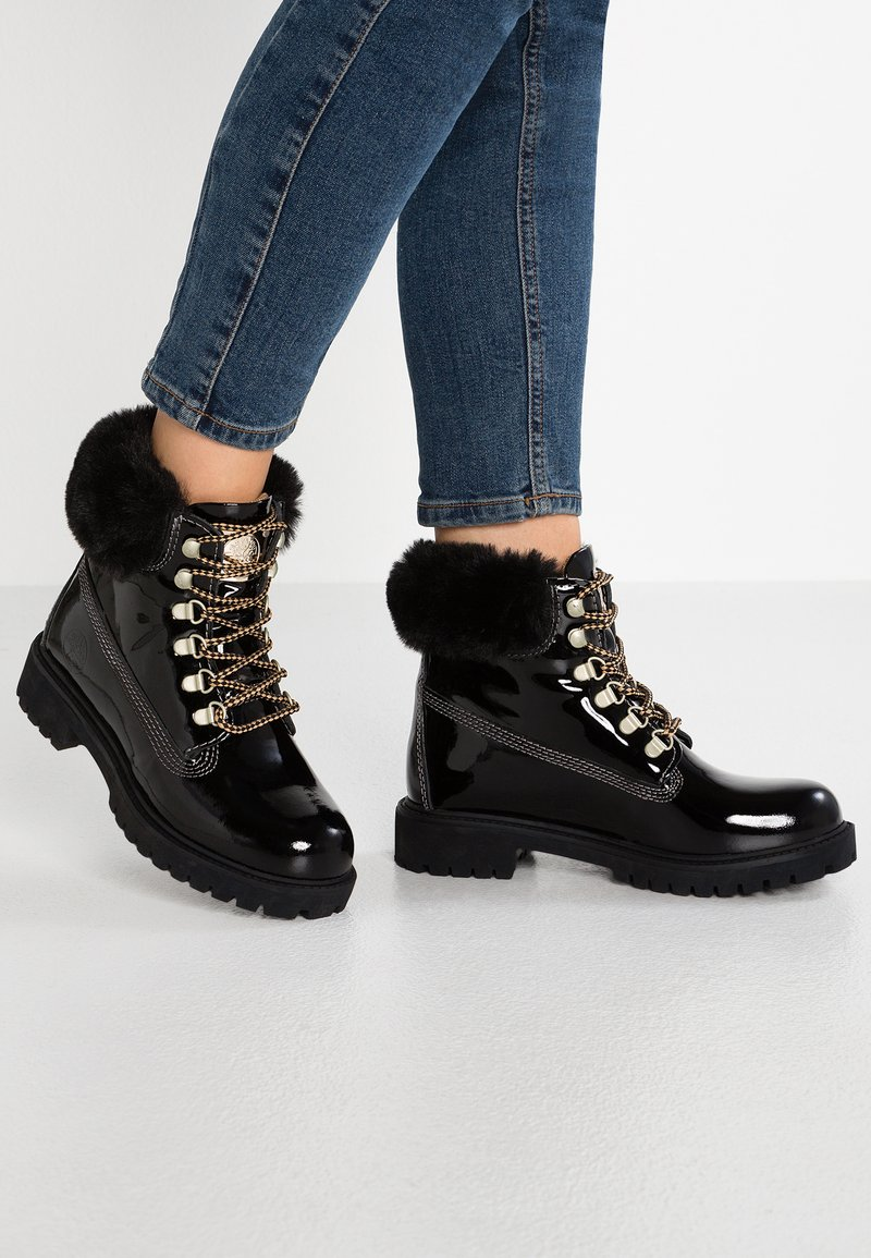 Darkwood - Lace-up ankle boots - black