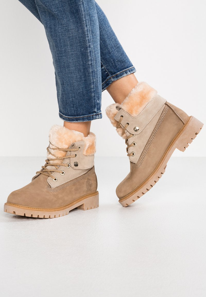 Darkwood - Lace-up ankle boots - beige