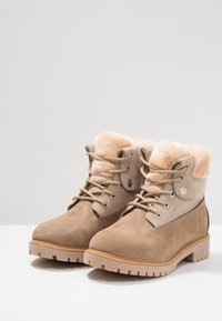 Darkwood - Lace-up ankle boots - beige - 4