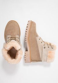 Darkwood - Lace-up ankle boots - beige - 3