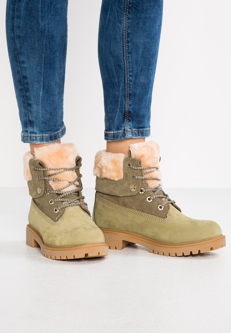 Darkwood - Lace-up ankle boots - khaki