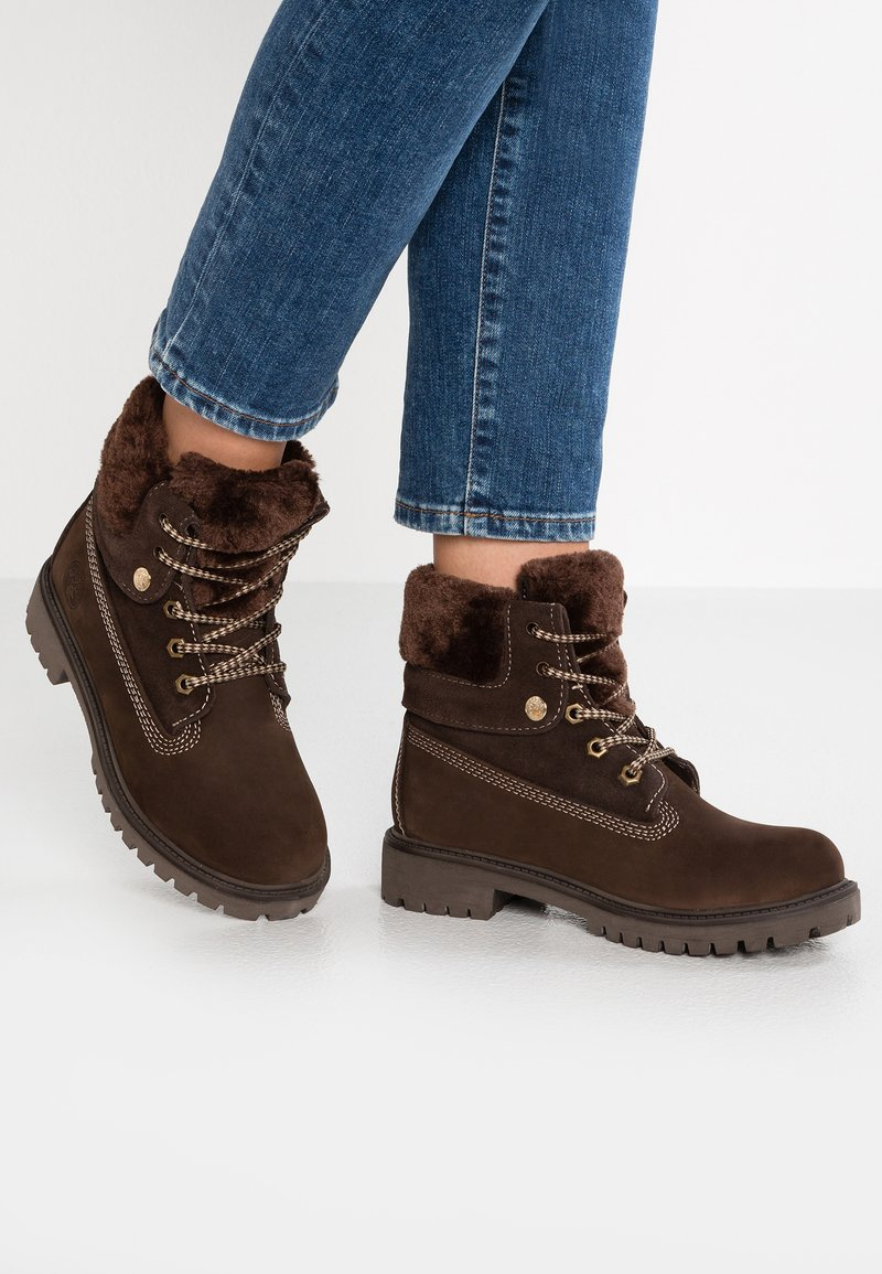 Darkwood - Lace-up ankle boots - brown