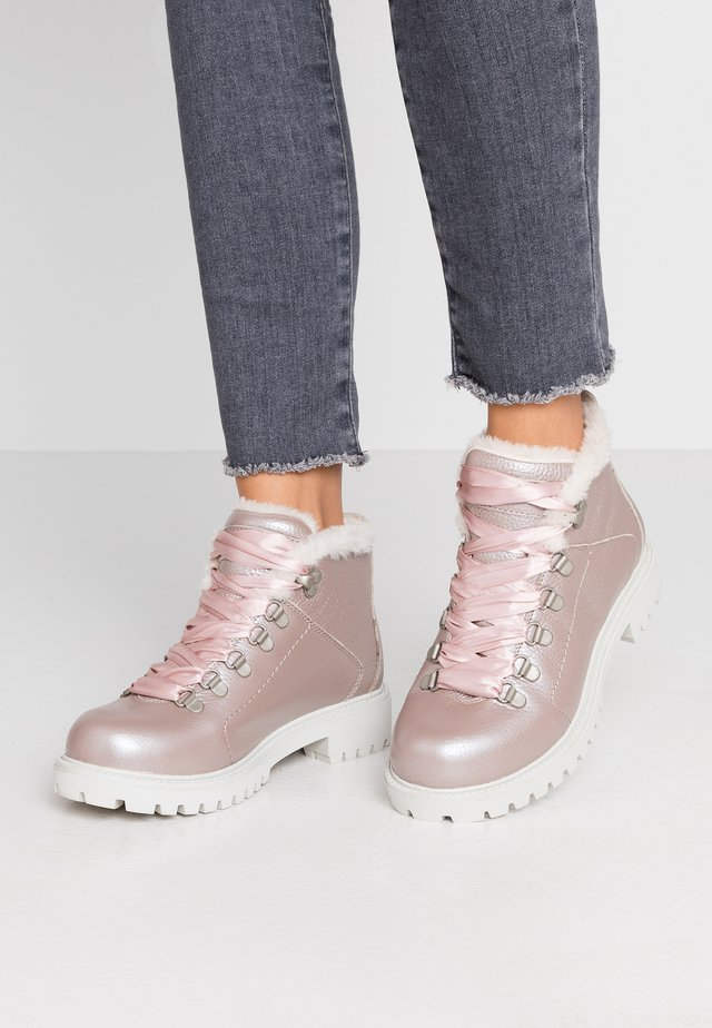 Ankle boots - pink gold