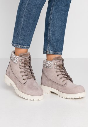 Lace-up ankle boots - mink/brown