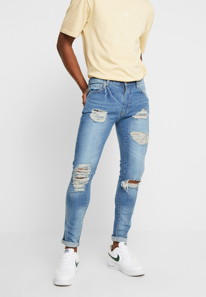 D-STRUCT - CALVET  - Jeans Skinny Fit - washed blue