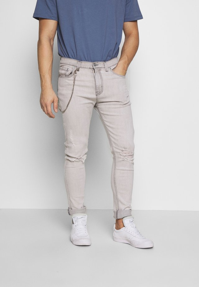 AVIGNON - Slim fit jeans - grey marble wash