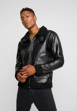SCHONFELD - Faux leather jacket - black