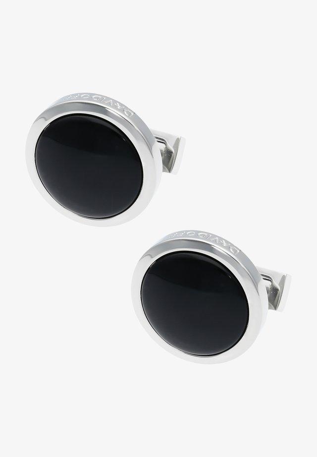 Cufflinks - rhodium/black