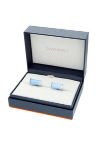 DAVIDOFF - Cufflinks - rhodium blue - 3