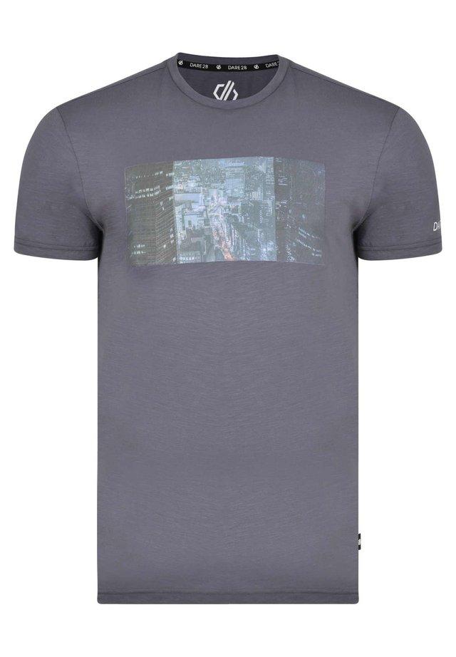 CONVERGE  - Print T-shirt - quarry blue