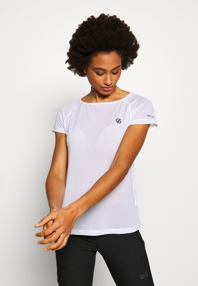 DEFY TEE - T-shirt con stampa - white