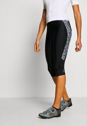 WORLDLY CAPRI - 3/4 Sporthose - black/white