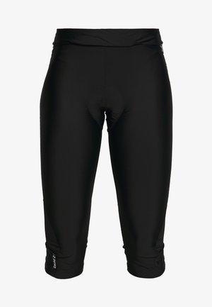 WORLDLY CAPRI - 3/4 sports trousers - black/white