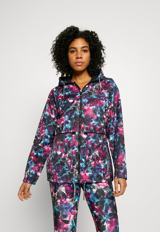 DEVIATION JACKET - Regnjakke - pink/blue