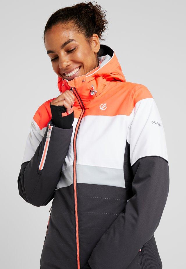 AVOWAL JACKET - Ski jacket - ebony/white