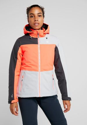 PURVIEW JACKET - Veste de ski - coral/light grey/black