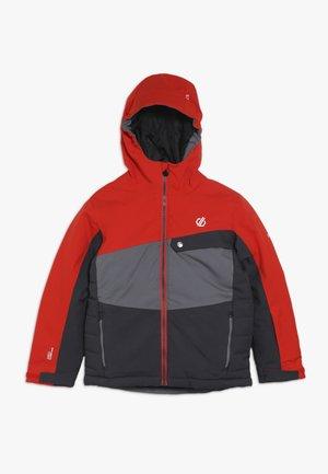WREST JACKET - Ski jacket - algrey aluminium/citron
