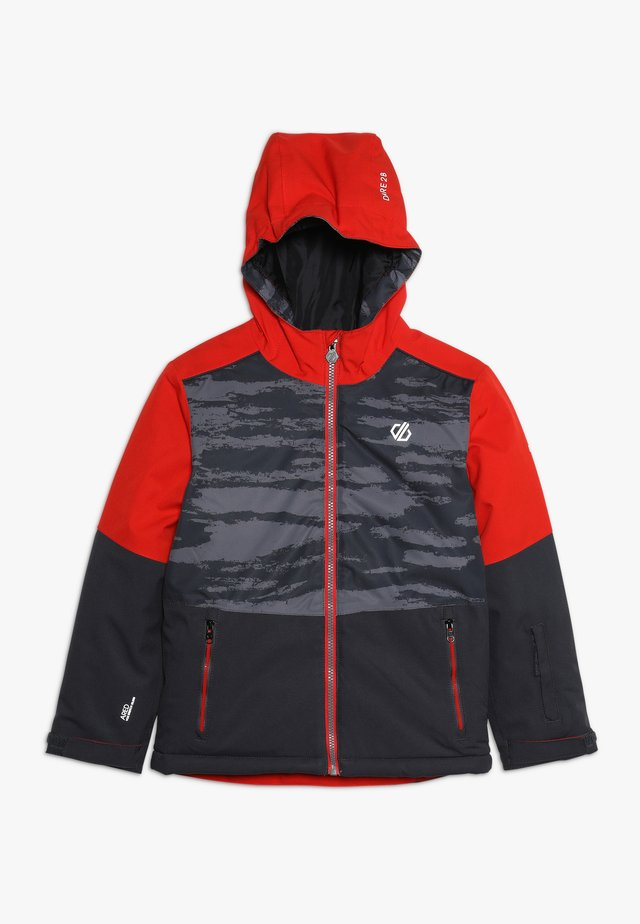 AVIATE JACKET - Laskettelutakki - ebony/algrey