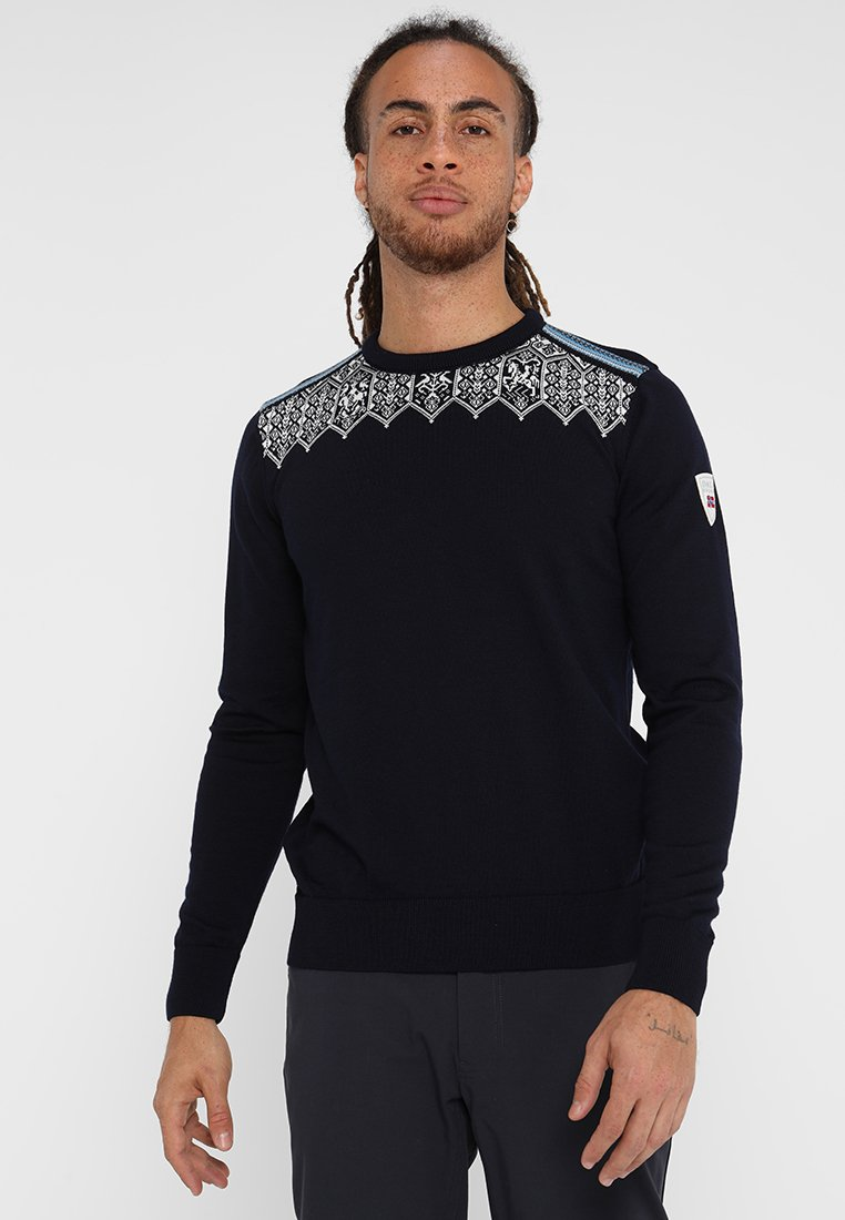 Dale of Norway - LILLEHAMMER - Pullover - navy/sochi blue/off white/grey
