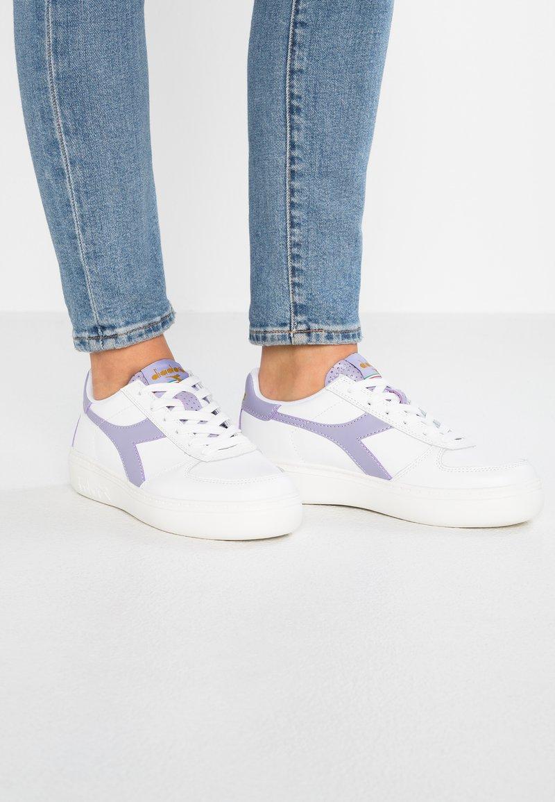 Diadora - ELITE WIDE FIT - Sneakers - pristine/wisteria