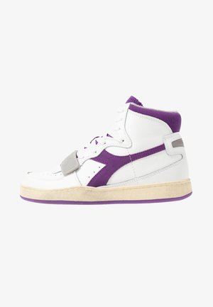 BASKET USED - High-top trainers - white/imperial lilac