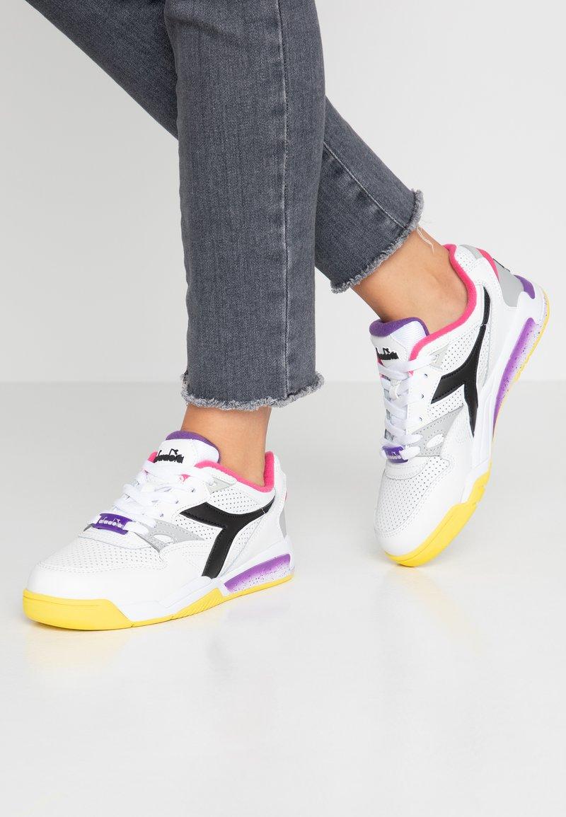 Diadora - REBOUND ACE - Trainers - white/black/magenta