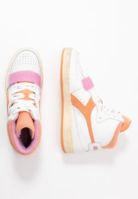 Diadora - BASKET USED - Sneakers laag - cantaloupe/pastel lavander - 3