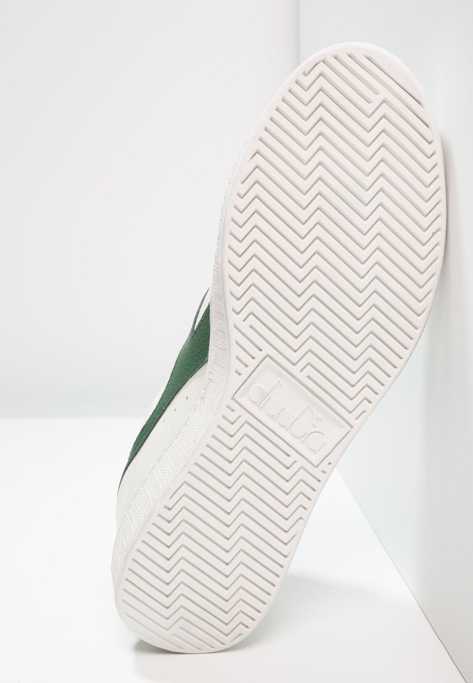 Diadora GAME WAXED - Sneakersy niskie - white/fogliage