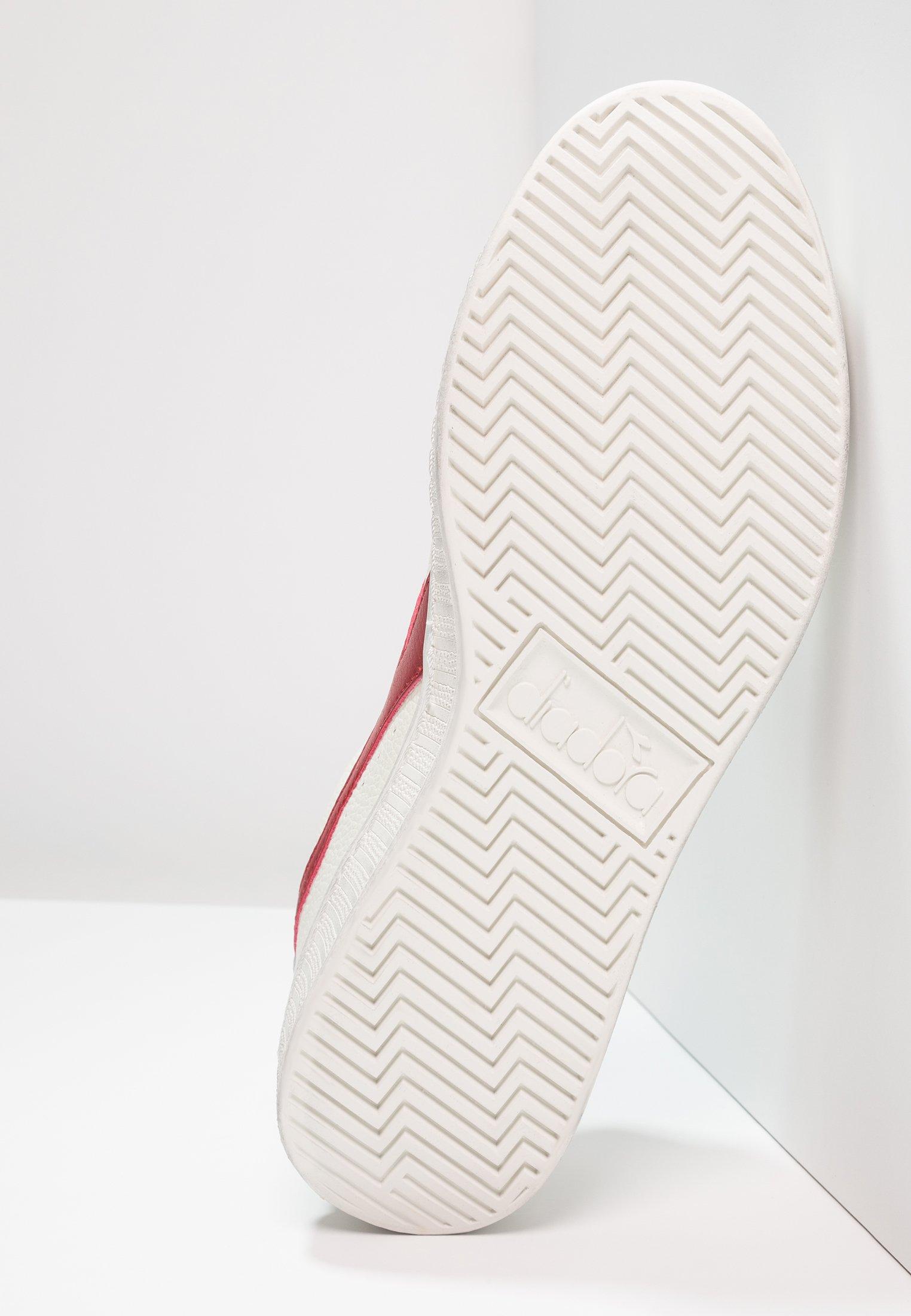 Diadora GAME WAXED - Baskets basses - white/red pepper