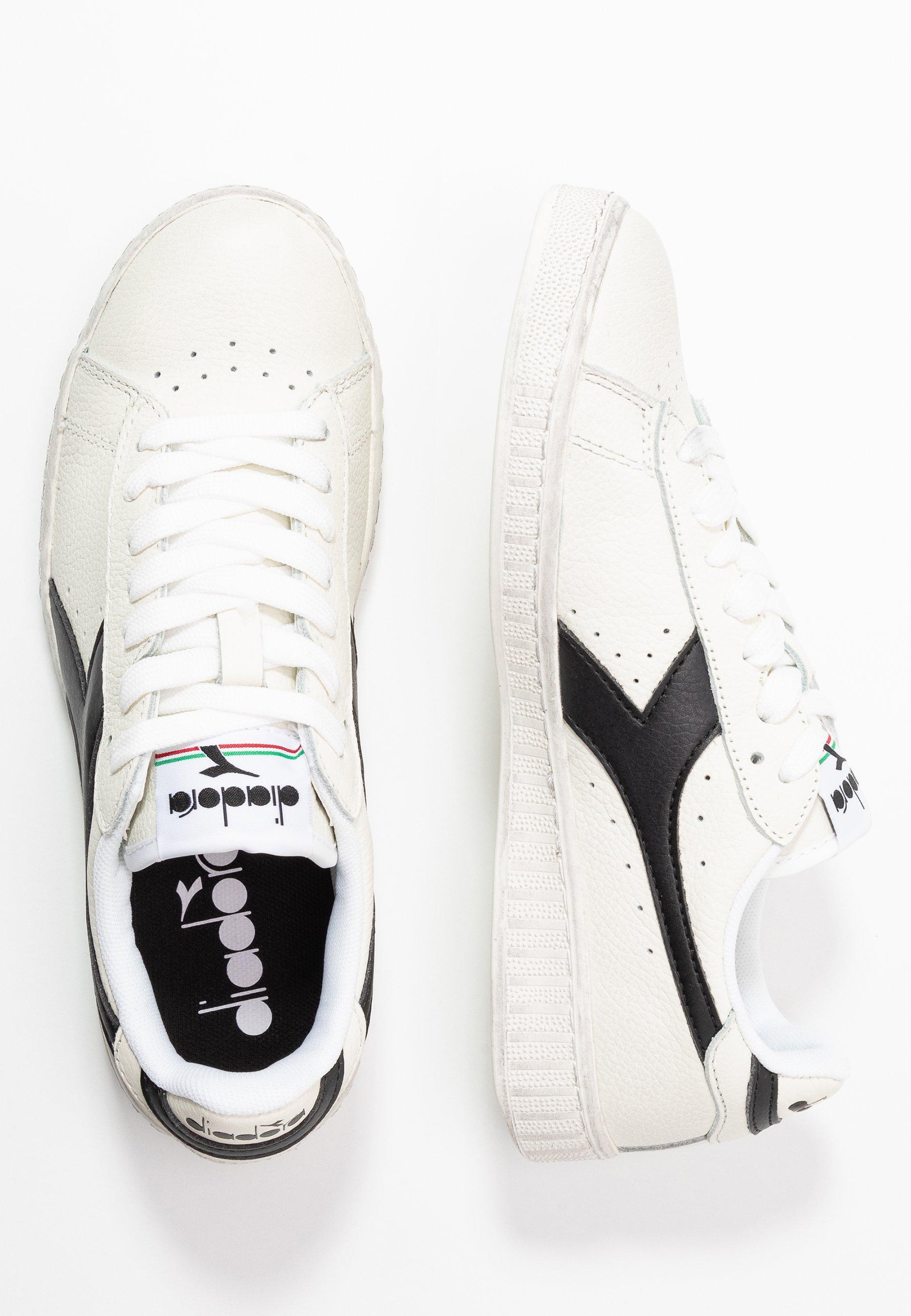 Diadora Game Waxed - Sneakers Basse White /black a1dfcnL