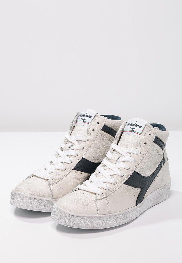 Diadora GAME WAXED - Sneakers alte - white/blue caspian sea