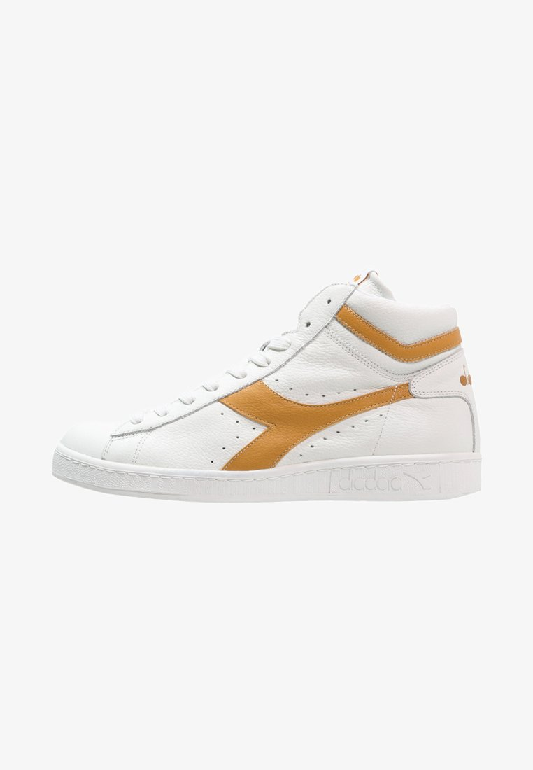 Diadora - GAME WAXED - Sneaker high - white/amber gold