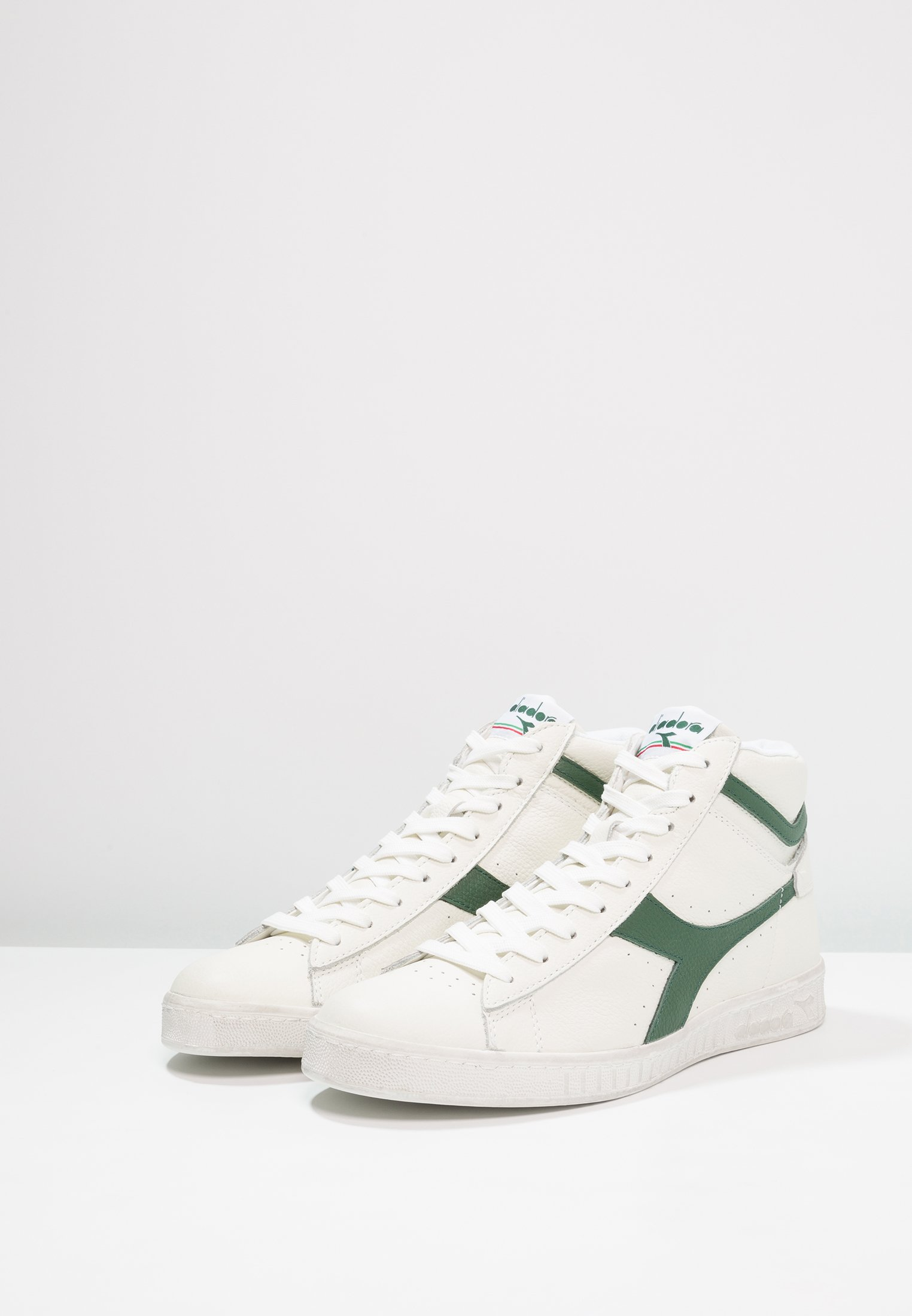 Diadora GAME WAXED - Höga sneakers - white/fogliage