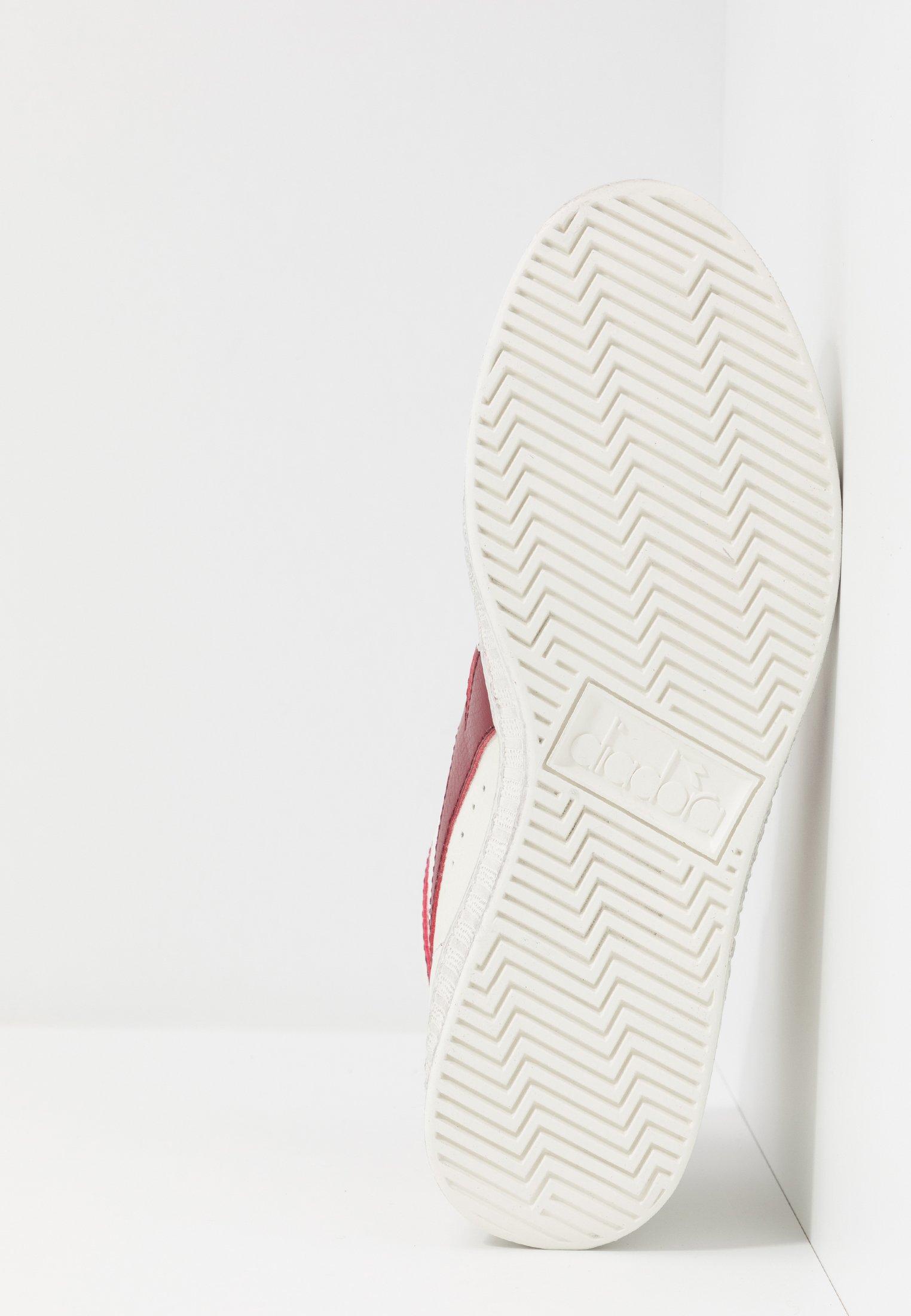 Diadora GAME WAXED - Sneakersy wysokie - white/red pepper