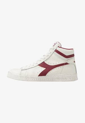 GAME WAXED - Sneakers hoog - white/red pepper