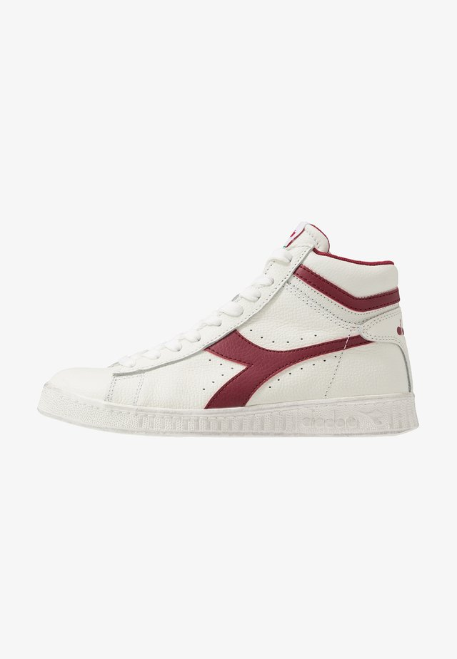GAME WAXED - Baskets montantes - white/red pepper