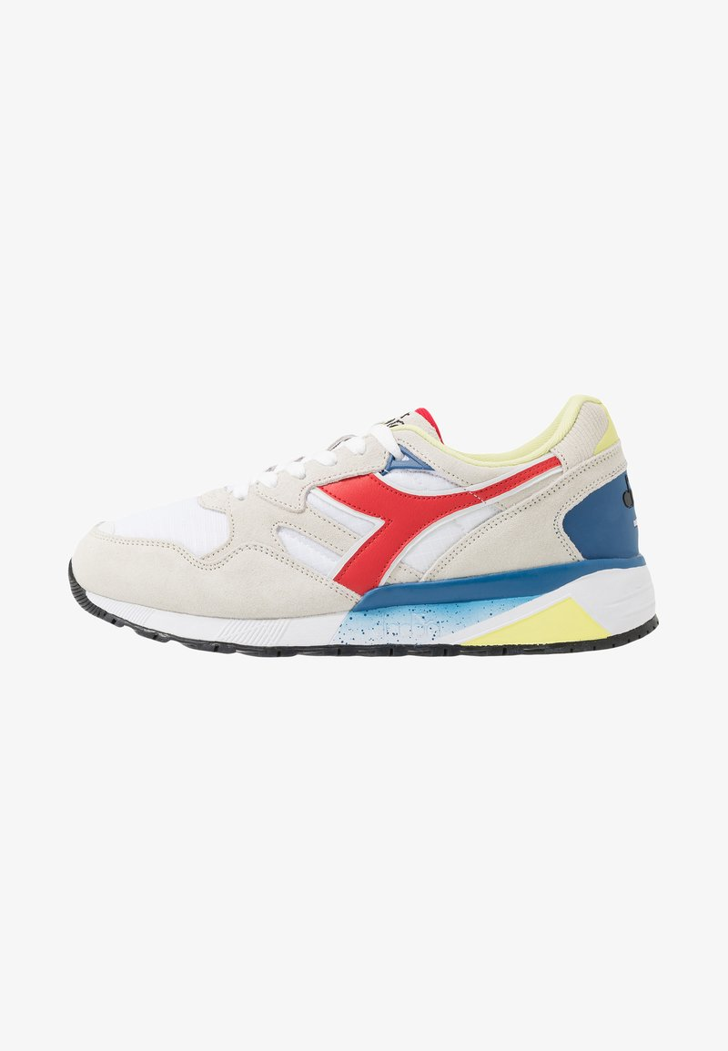 Diadora - Matalavartiset tennarit - white/dark red