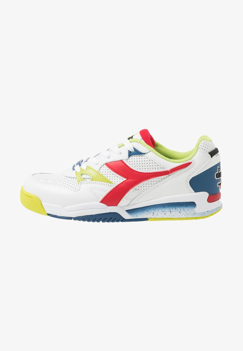 Diadora - REBOUND ACE - Matalavartiset tennarit - white/dark red