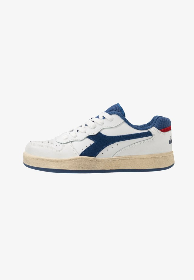 BASKET USED - Sneakers laag - white/bijou blue