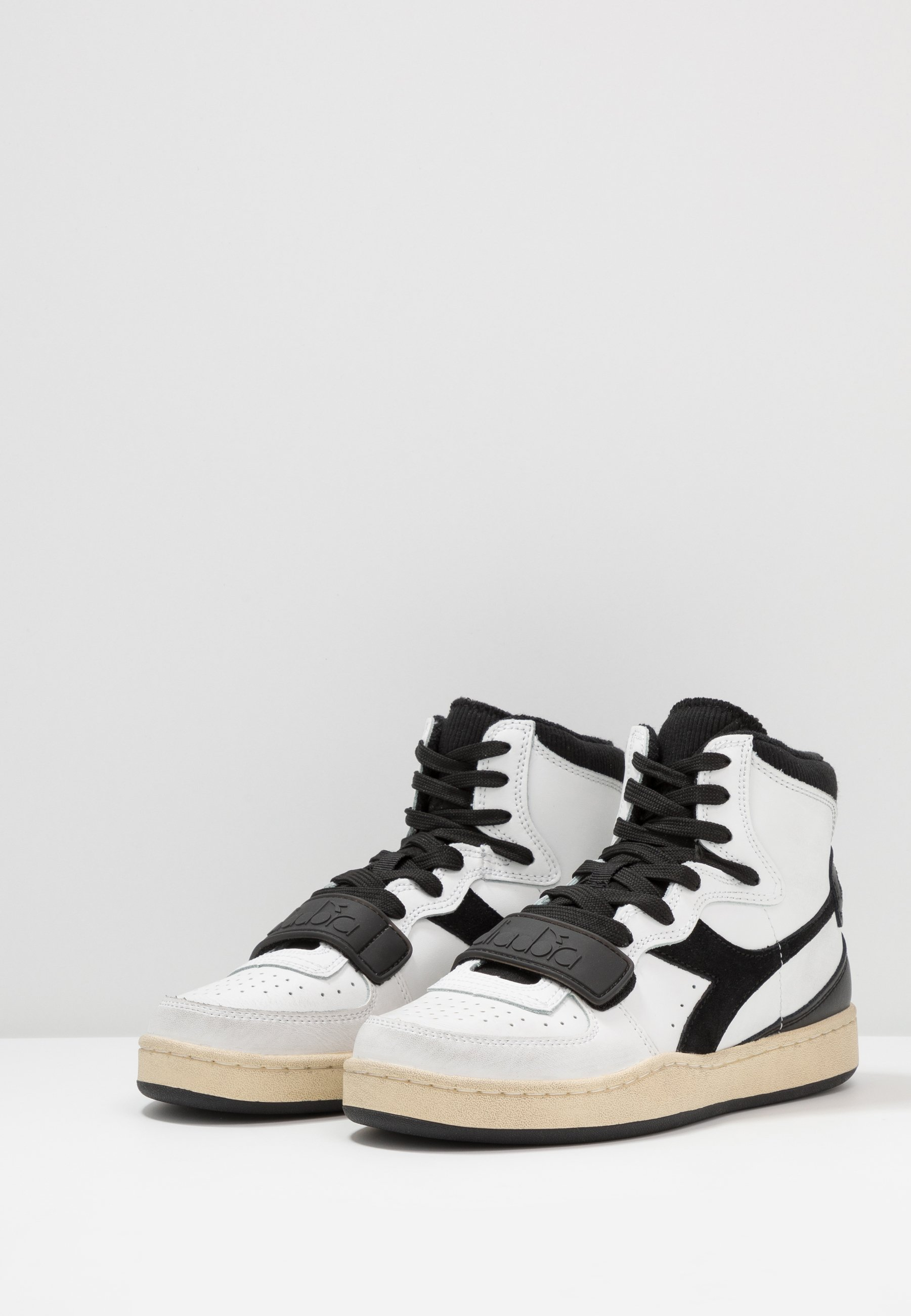 Diadora Mi Basket Used - Höga Sneakers White/black