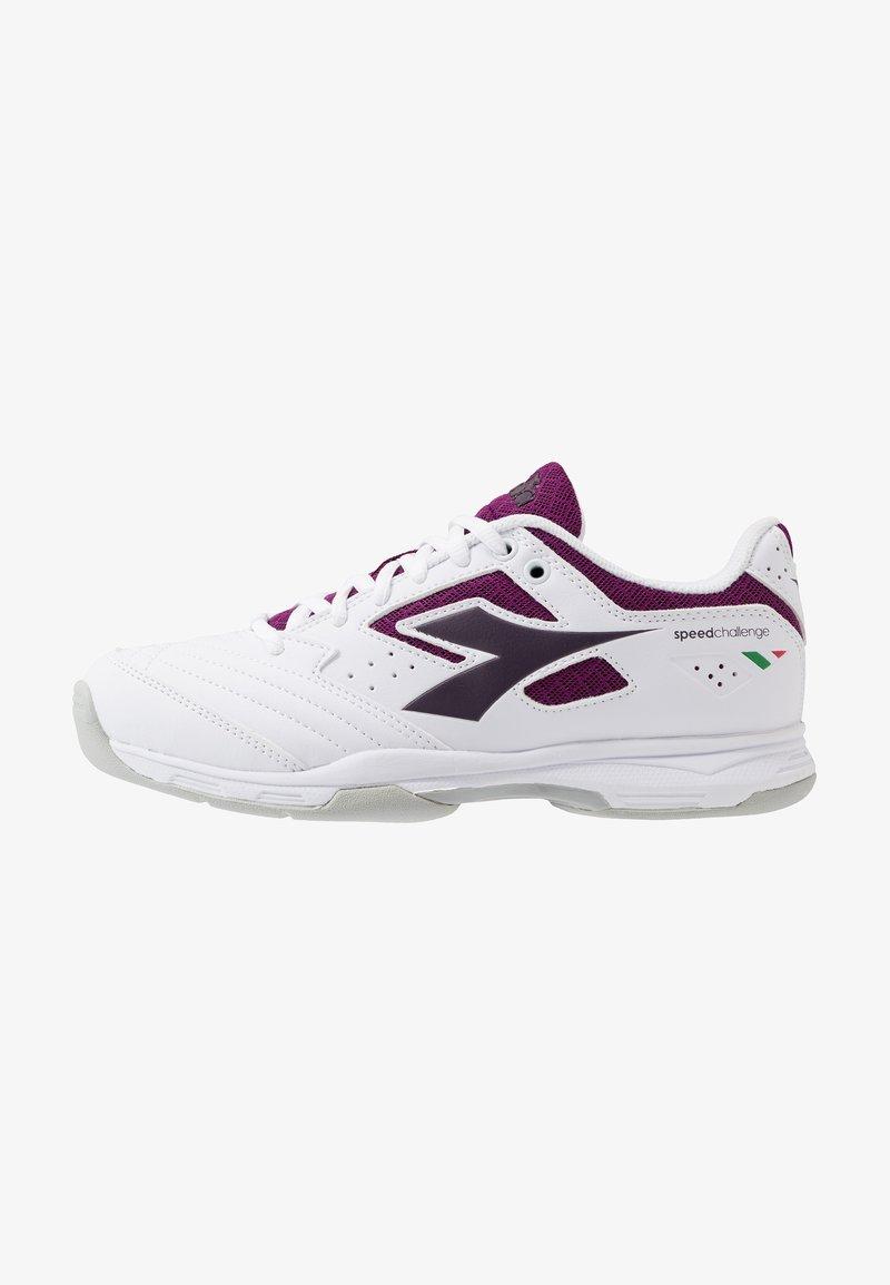 Diadora - CHALLENGE 2 CARPET - Carpet court tennis shoes - white/boysenberry
