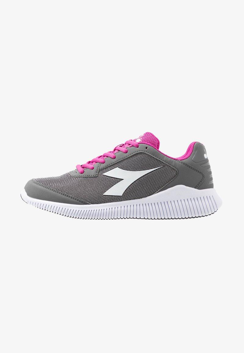 Diadora - EAGLE 2 - Neutrální běžecké boty - steel gray/dewberry