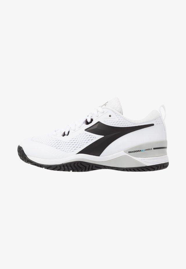 SPEED BLUSHIELD 4 AG - Tenisové boty na všechny povrchy - white/black