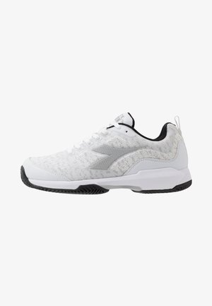 S.SHOT CLAY - Clay court tennis shoes - white/silver/black