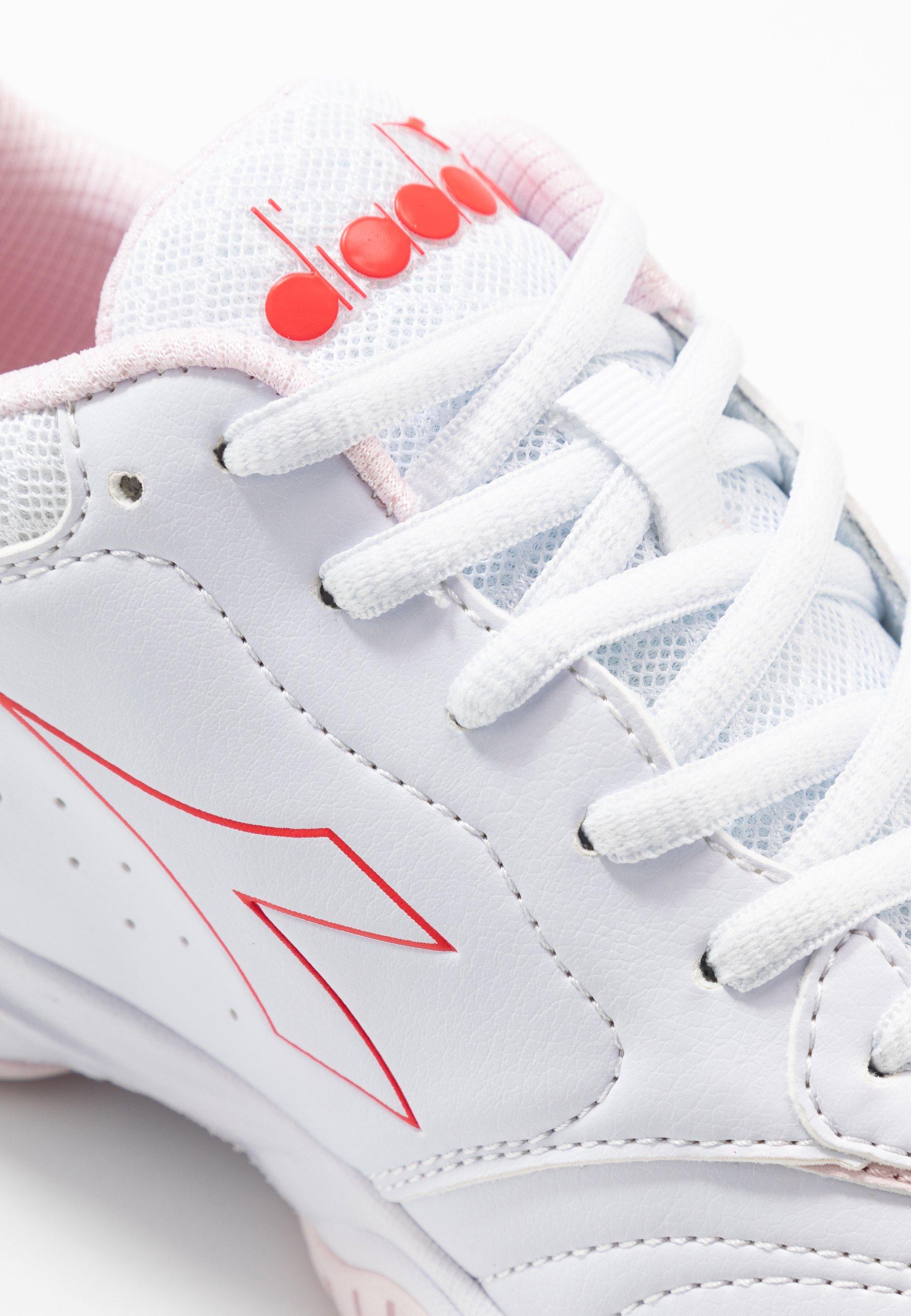 Diadora SMASH 3 - Buty tenisowe uniwersalne - white/lively hibiscus red