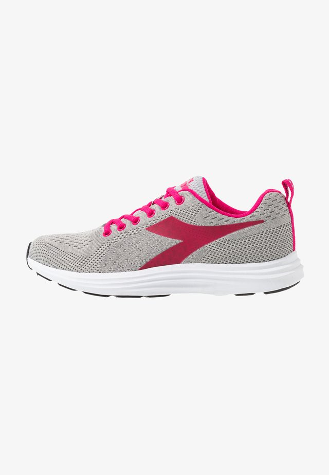 DINAMICA - Competition running shoes - silver/beetroot purple