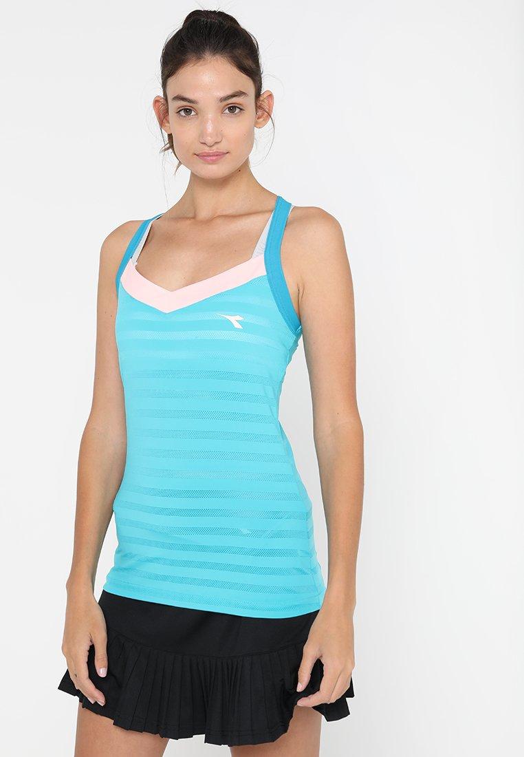 Diadora - CLAY - T-shirt de sport - baltic sky/blue