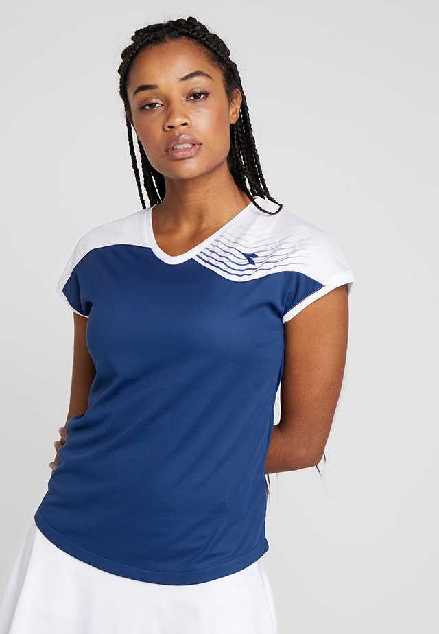 COURT - T-shirt print - saltire navy